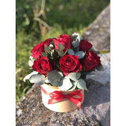 Flower box de roses rouges